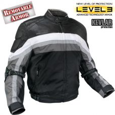 Men's Armored Black and Grey Tri-Tex Fabric and...